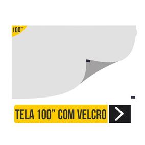 Tela Telão Projeção 100 Polegadas Datashow Projetor 2x1,40