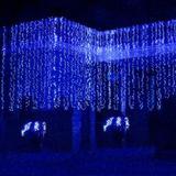 Luces Navideñas Tipo Cortina 300 Leds 3x3 Azul