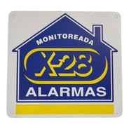 Cartel Disuasivo Seguridad Propiedad Monitoreada Alarma X-28