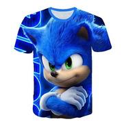 Polera Sonic Niños Niñas