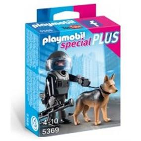 Policia Tactica Con Perro Playmobil
