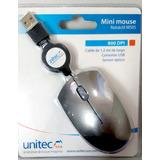 Mini Mouse Retractil Unitec Usb