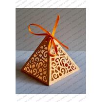Caja Pirámide Para Regalos O Decoración