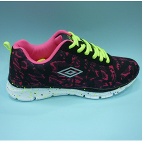 Zapatos Umbro Originales Para Damas - Um16507w Black Red