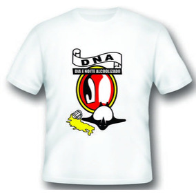 Camiseta D.n.a. Dia E Noite Alcoolizado
