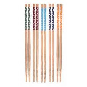 Kit 5 Hashi De Bambu Decorado P/ Sushi Sashimi Frete Grátis