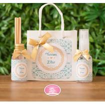 10 Kit Padrinhos De Casamento-mini Aroma Difusor + Spray Car