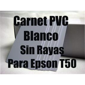 10 Carnet Pvc Blanco Brillante Epson T50 290 L800 Sin Rayas