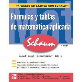 Libro Fórmulas Y Tablas De Matemática Aplicada - Nuevo