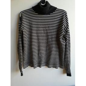 Sweater Tipo Remera Gruesa Con Cuello Alto Mng Talle S 1fcb60c383b