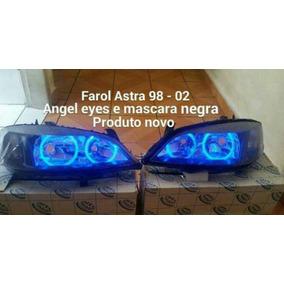 Par De Farol Astra 99 A 02 Com Angel Eyes E Mascara Negra