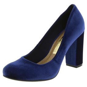 Sapato Feminino Salto Alto Marinho Via Marte - 172002