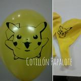 Globo Pokemon Pikachu Fiesta Deco Cumpleaños Apto Helio