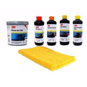 3m Kit Polimento Massa+finesse+lustrador+autobrilho+cera+fla