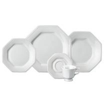 Jogo Jantar Chá 30 Peças Prisma Porcelana Branca Schmidt