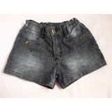 Short Jeans Infantil Menina Alphabeto Girls Tam.8