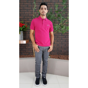 Blusa Lacoste Polo Classic Fit Rosa Pink