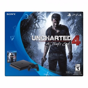 Ps4 Playstation 4 Slim Sony 500gb Uncharted4 C/2 Controles