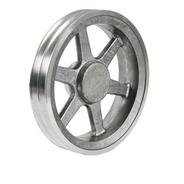 Polia De Alumínio Raiada 500mm / 2 Canais / Perfil A