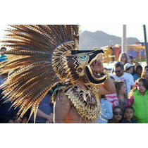 Cabeza De Hombre Aguila, Penacho Concheros, Azteca, Sin Plum