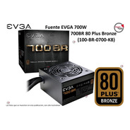 Fuente Evga 700w 700br 80 Plus Bronze (100-br-0700-k8)