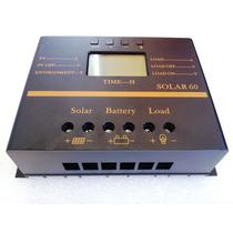Controlador Carga 60 A Panel Solar 12v Bateria Regulador