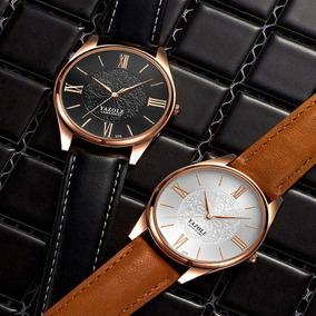 Relógio Feminino Yazole Original Elegante Couro Brinde Caixa