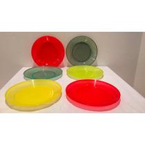 Platos Plásticos De Colores X 100 Unidades Directo Fabrica