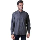 Camisa Casual Masculina Tradicional Flanela F01677a Grafite
