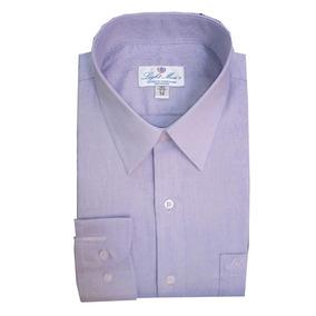 Camisa M/ L Color Lila Caballero Planchado Fácil