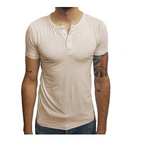 Camiseta Henley Manga Curta