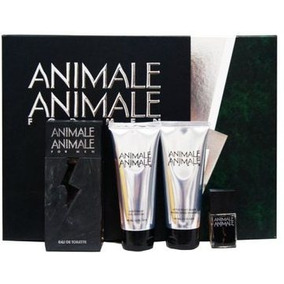 Kit Animale Animale 100ml +7,5ml+gel +creme De Barba 100g Cd