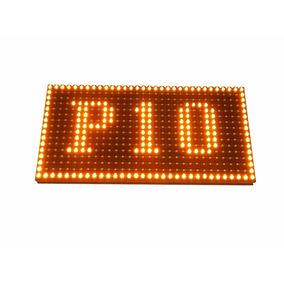 Módulo Painel Led P10 Amarelo Ambar 32x16cm Indoor K2471