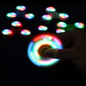 Hand Spinner Con Luz Led Fidget Antiestrés Juego Stock Ya
