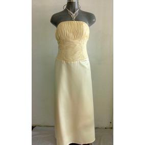 Lilasori Vestido De Fiesta Color Amarillo Talla 11 Importado