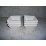 Bowls Cuadrados Chicos X 6 Unidades Blancos De Cerámica