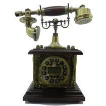 Telefone Antigo Retro Vintage Digital Madeira + Lindo