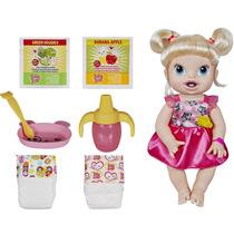 Boneca Baby Alive Hora De Comer Loira Fala Português Hasbro