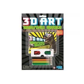 Brinquedo Educativo - Mundo Dos Dinossauros - Dino Art 3d