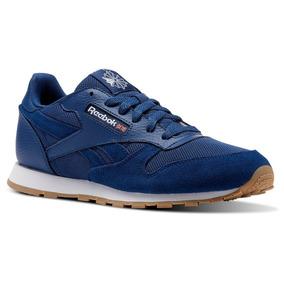Tenis Reebok Leather Cl Leather Azul