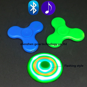 Fidget Spinner Luz Led Y Bocina Bluetooth Pila Recargable