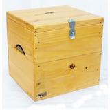Baú Box Pinus Caixote De Feira Para Vinil Lp 100 Discos