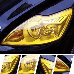 Adesivo Película Amarelo P/lanterna Farol Carro Moto 30cmx1m