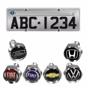 Kit 4 Parafusos De Placa Logomarca Emblema Vw Gm Fiat Ford