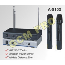 Micrófono Doble Inalambrico Gcm Pro Gcm-8103