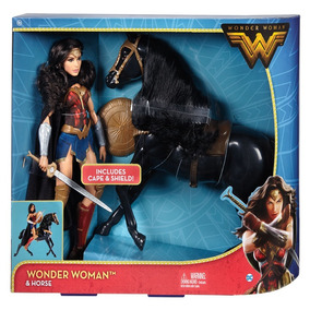 Boneca Barbie Mulher Maravilha- Articulada E Cavalo