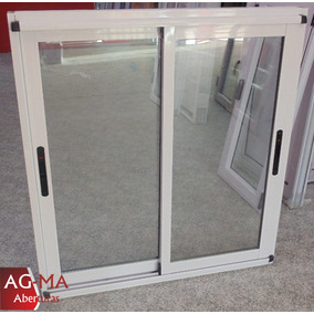 ventana aluminio blanco modena vidrio entero x
