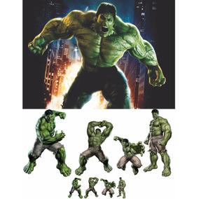 Kit De Chão Hulk 8 Peças + Painel 2,00x1,50m. Envio 48hs