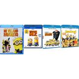 Minions & Mi Villano Favorito 1 2 3 Tetralogia Blu Ray