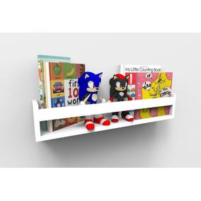 Prateleira Para Livros Infantil Quarto Montessoriano 60cm